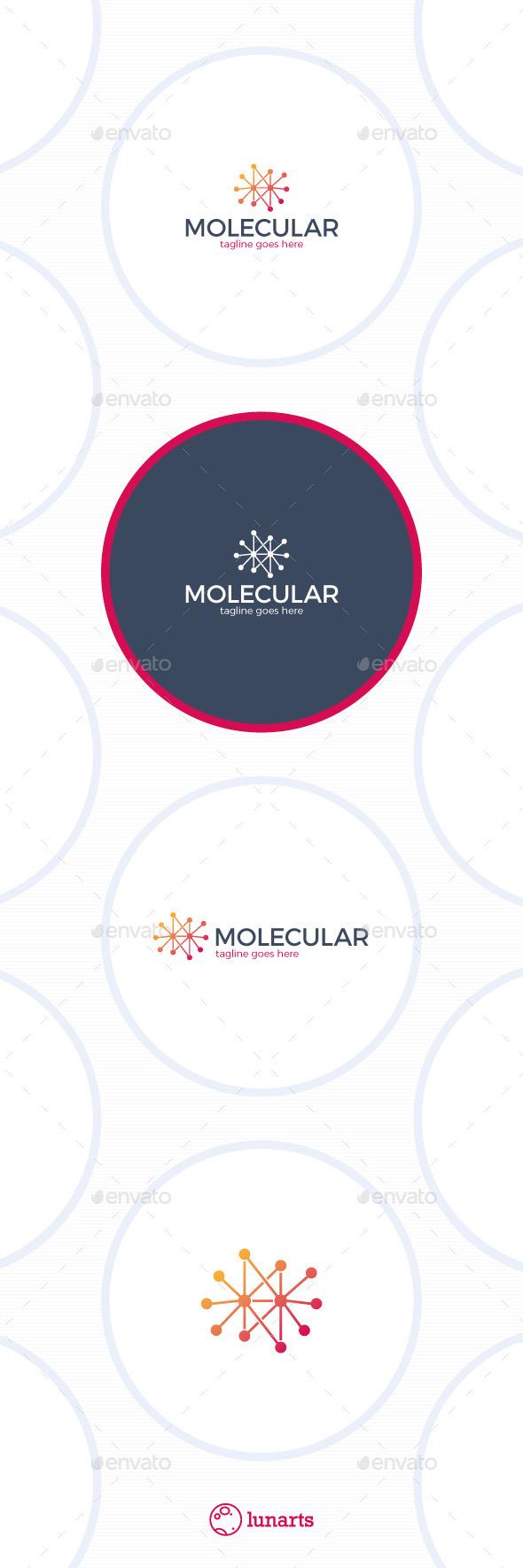 GraphicRiver Molecular Logo Chemistry 11793274