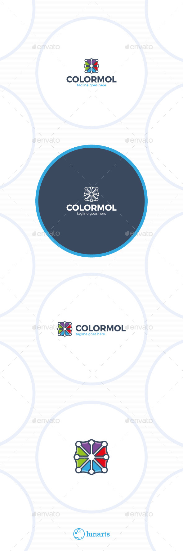 GraphicRiver Color Molecule Logo 11793385
