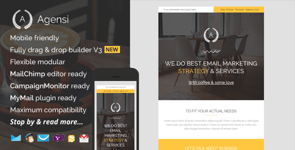 ThemeForest Agensi Modern Email Template with Builder 11793601