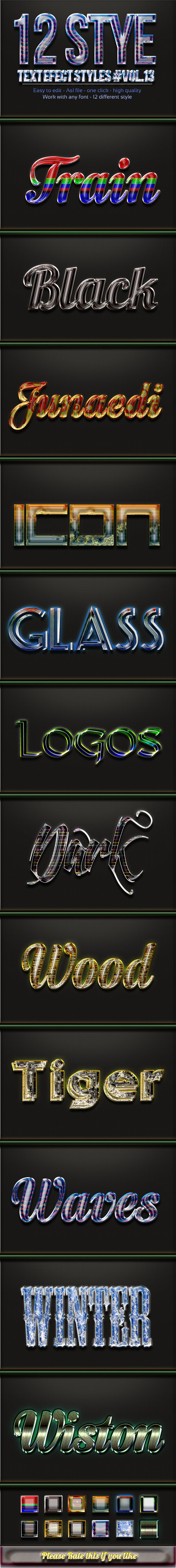 GraphicRiver 12 Photoshop Text Effect Styles Vol 13 11794392