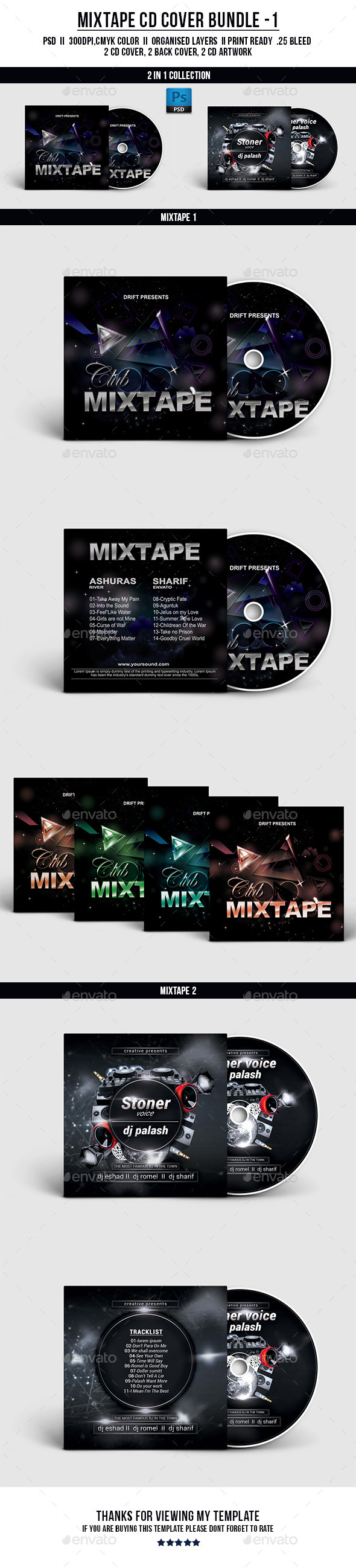 GraphicRiver CD Cover Bundle 01 11794517