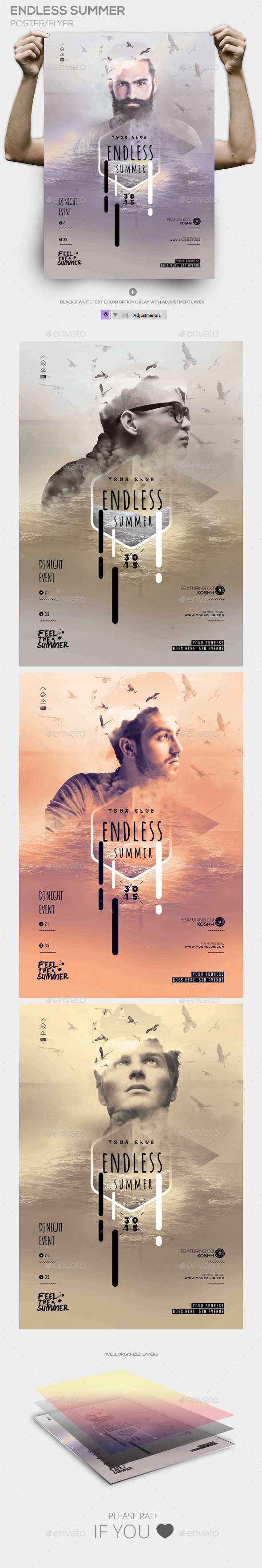 GraphicRiver Endless Summer Poster PSD Template 11795181