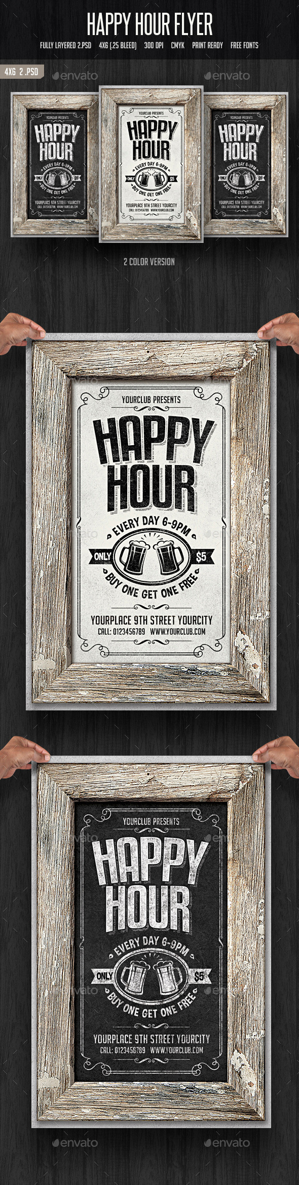 GraphicRiver Happy Hour Flyer 2 11795332