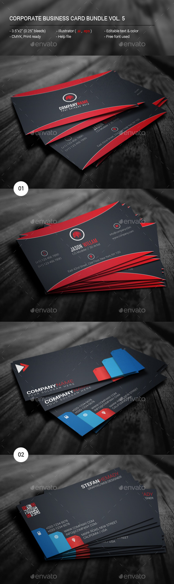 GraphicRiver Corporate Business Card Bundle Vol 5 11795478