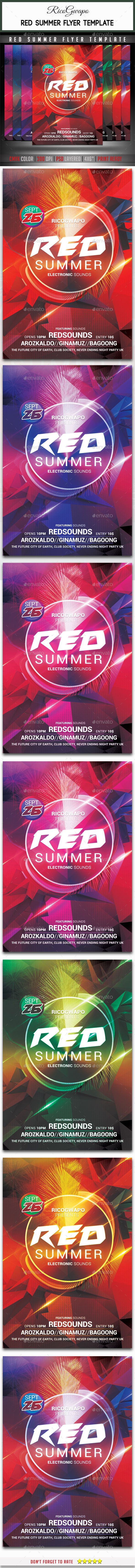 GraphicRiver Red Summer Flyer Template 11795527