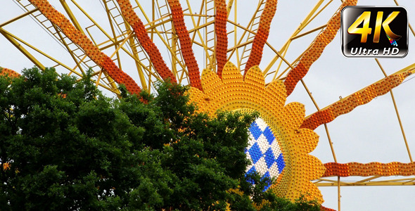 VideoHive Ferris Wheel in Carousel Amusement Park and Tree 1 11796348