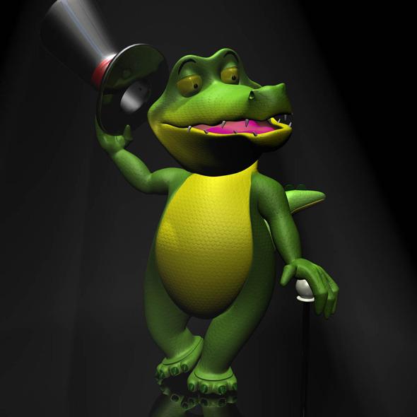 3DOcean Cartoon Crocodile RIGGED 11796665