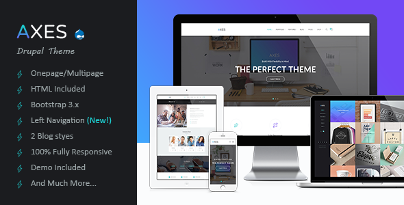 ThemeForest Axes Multipurpose One Multipage Drupal Theme 11796738