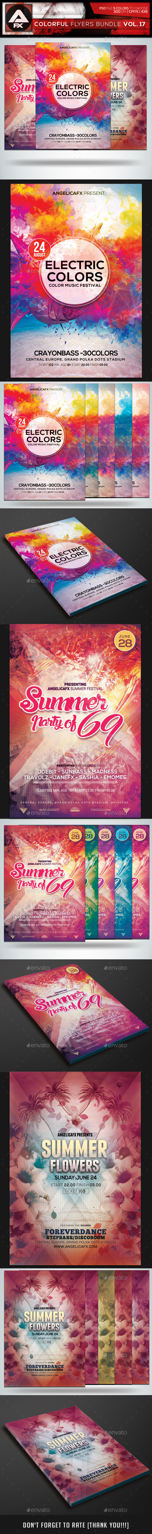 GraphicRiver Colorful Flyers Bundle Vol.17 11796905