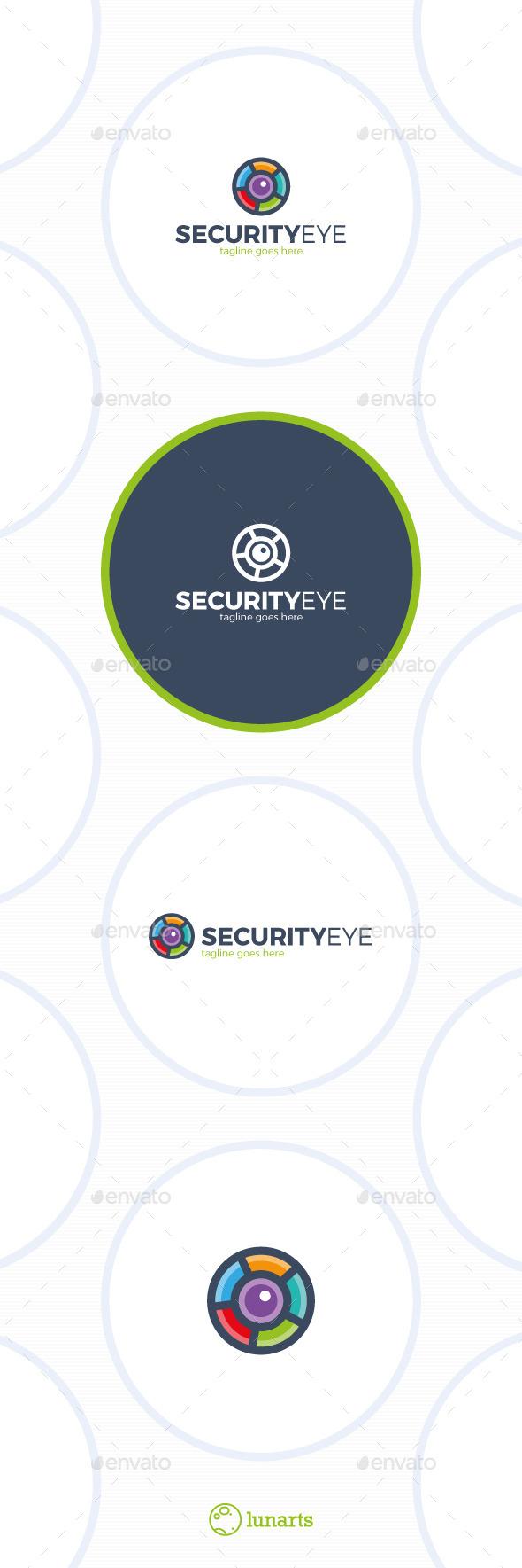 GraphicRiver Color Security Eye Logo Photo Circle 11796938