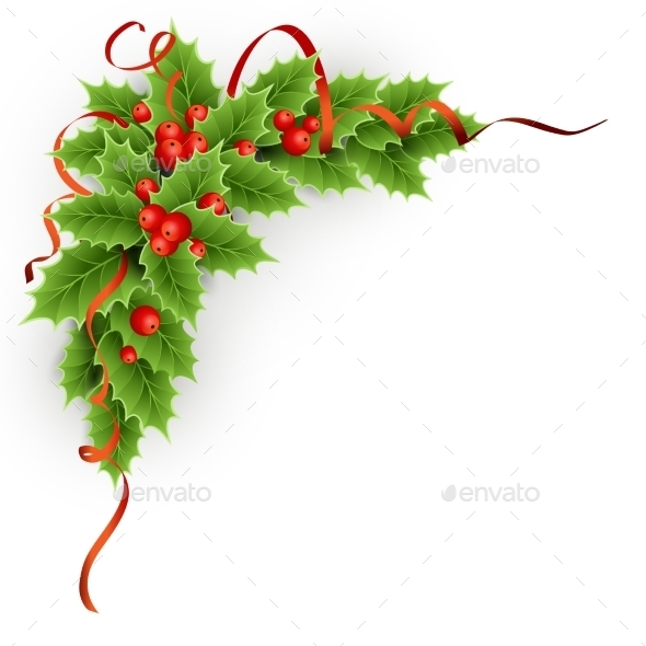 GraphicRiver Christmas Holly With Berries 11796940