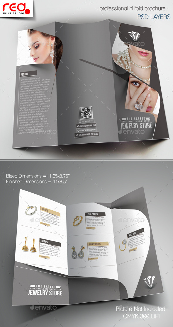 GraphicRiver Jewelry Store Trifold Brochure Template 1 11796966