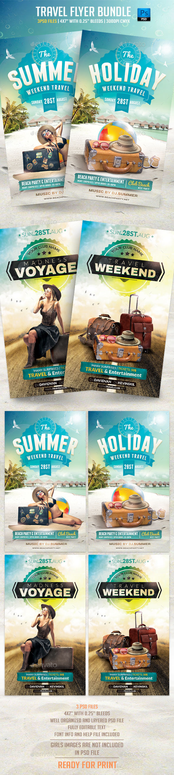 GraphicRiver Travel Flyer Bundle 11797027