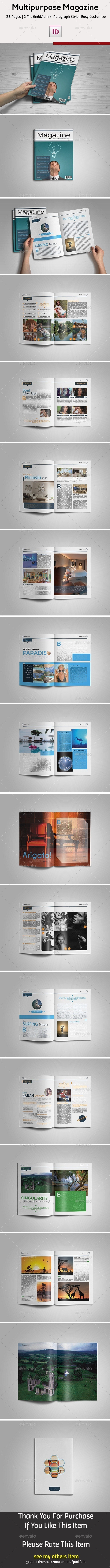 GraphicRiver Multipurpose InDesign Magazine Template 11797241