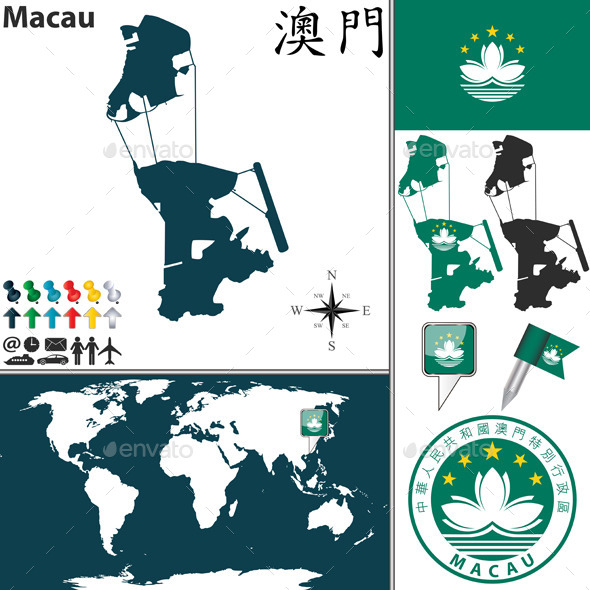 GraphicRiver Map of Macau 11797263