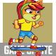 Kitty Skate Board Game Sprite