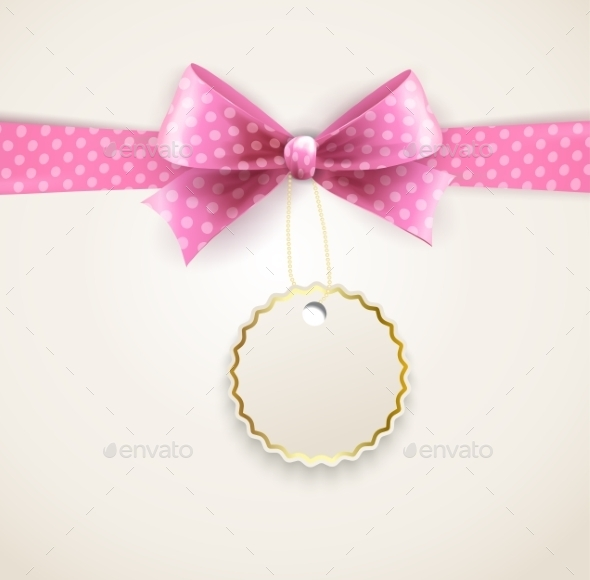 GraphicRiver Polka Dots Bow for Greeting Card 11797462