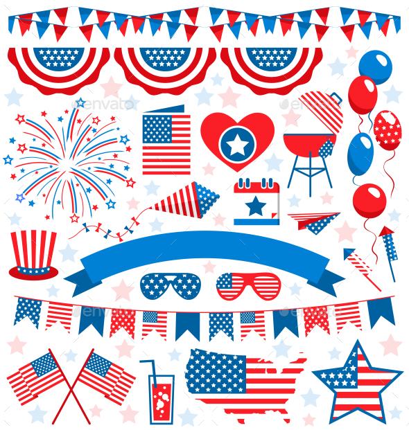 GraphicRiver Independence Day Symbols 11797543