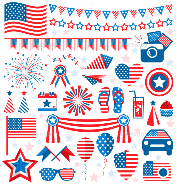 GraphicRiver Independence Day Symbols 11797556