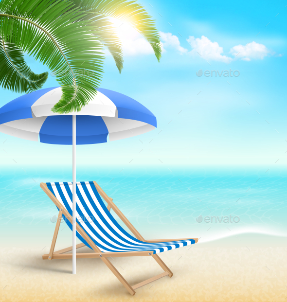 GraphicRiver Beach with Palm 11797996