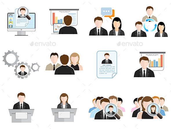 GraphicRiver Business Flat Icons Set 11799042