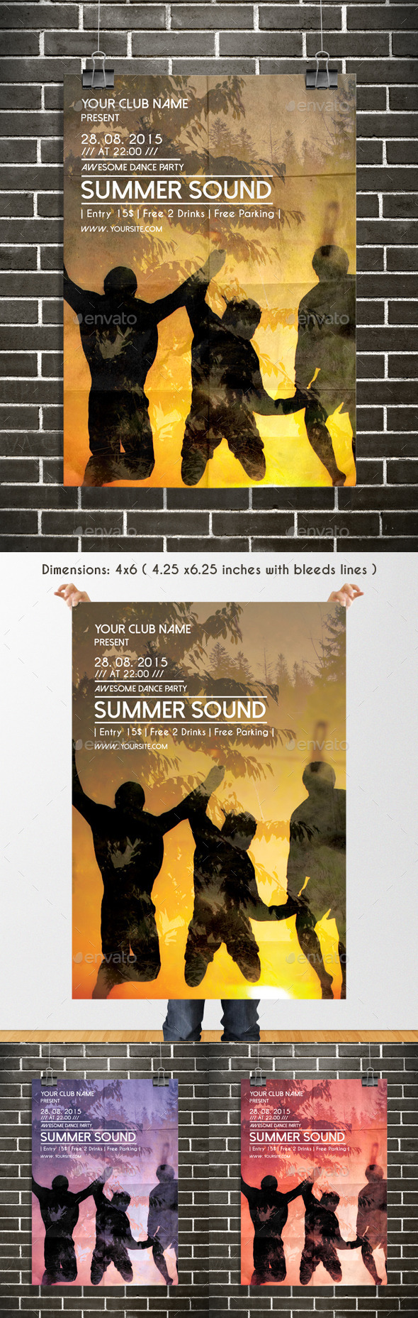 GraphicRiver Summer Party Poster Template 11799101