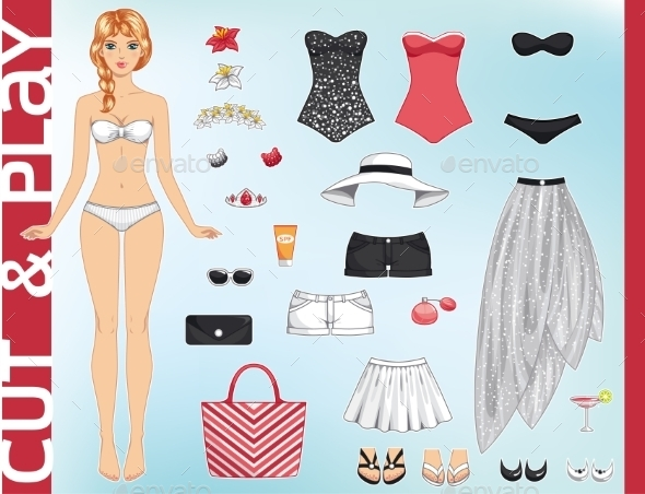 GraphicRiver Dress Up Paper Doll 11799152
