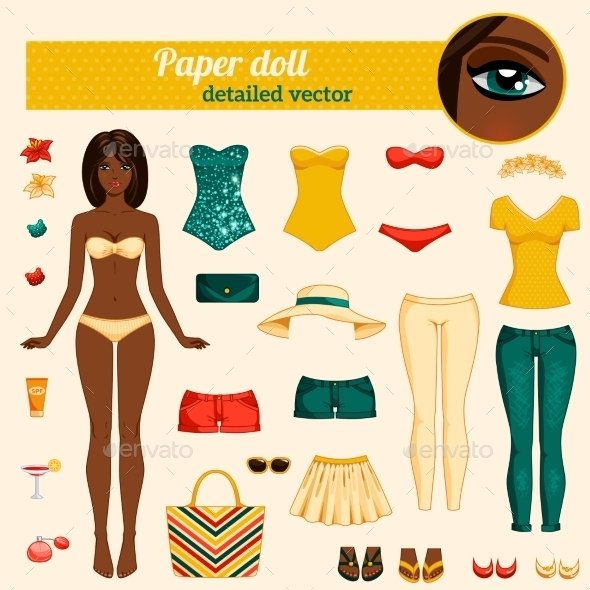 GraphicRiver Dress Up Paper Doll 11799201