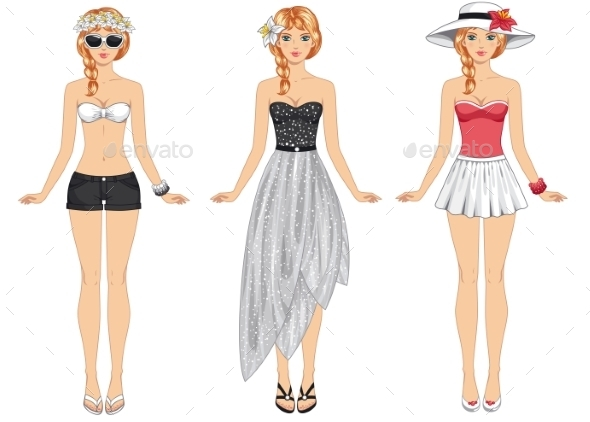 GraphicRiver Girls in Summer Clothes 11799221
