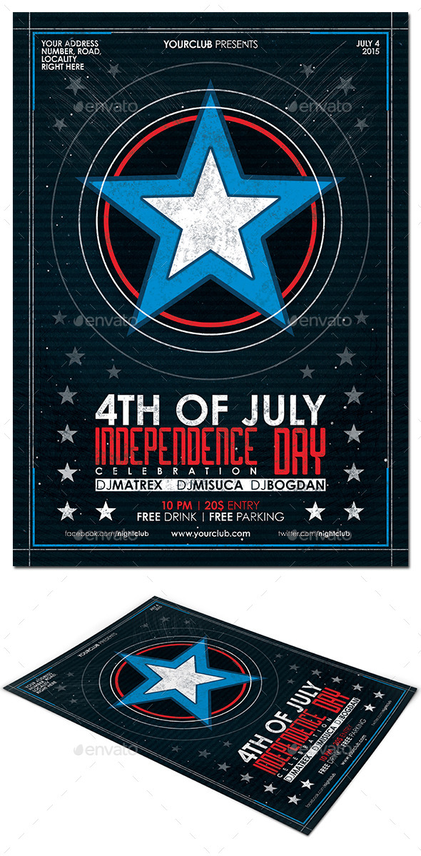 GraphicRiver 4th of July Flyer Poster 11799384
