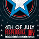 4th of July Flyer Poster - GraphicRiver Item for Sale