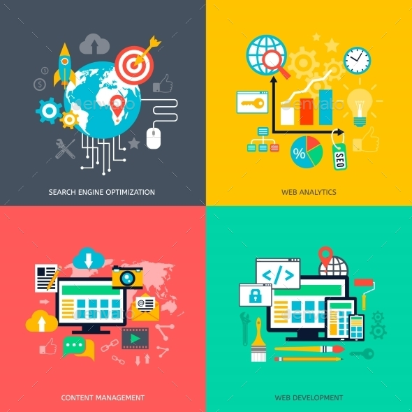 GraphicRiver SEO Optimization Icons 11799748