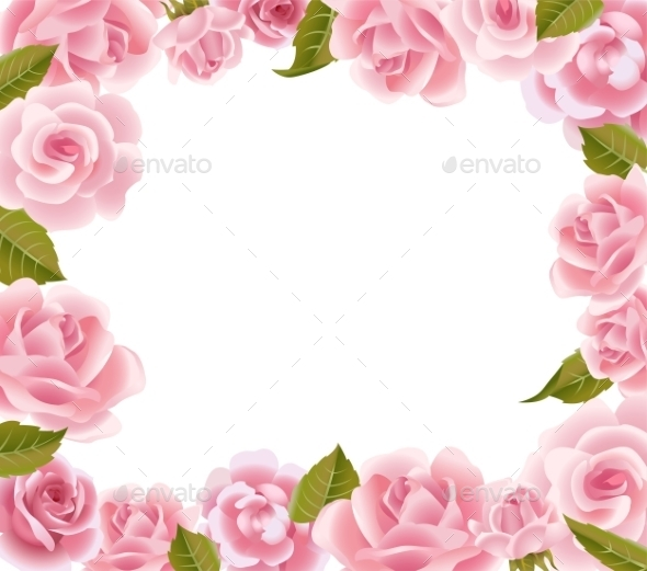 GraphicRiver Frame From Pink Roses 11799783