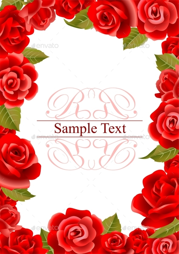 GraphicRiver Frame from Red Roses 11799800