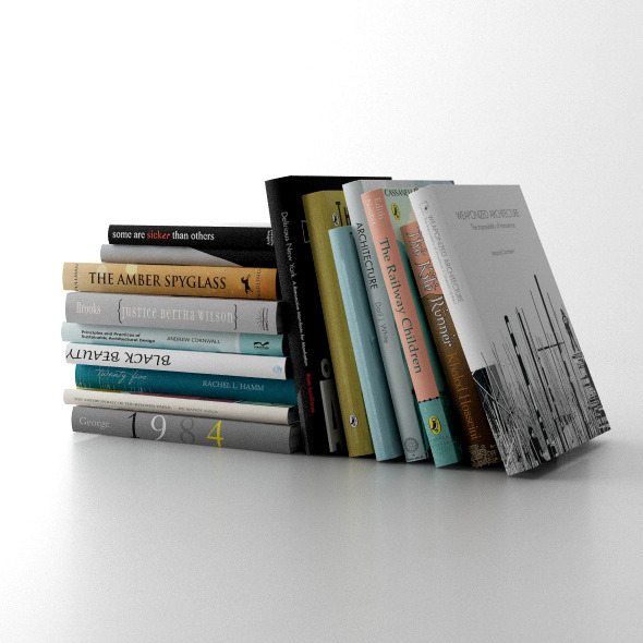 3DOcean Set of books C4D & Vray 11799919