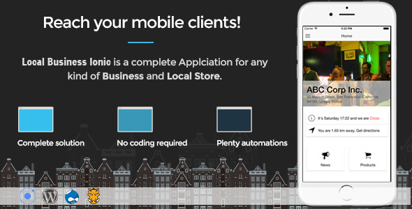 Local Business Ionic – Full Application (Full Applications) Download
