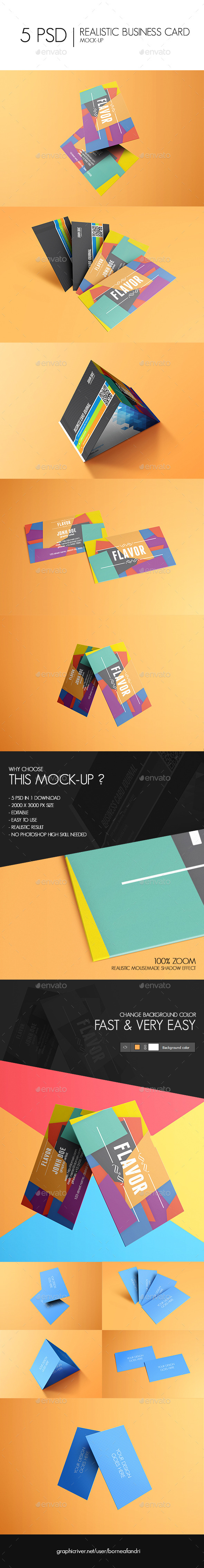 GraphicRiver Realistic Business Card Mock-Up 11799947