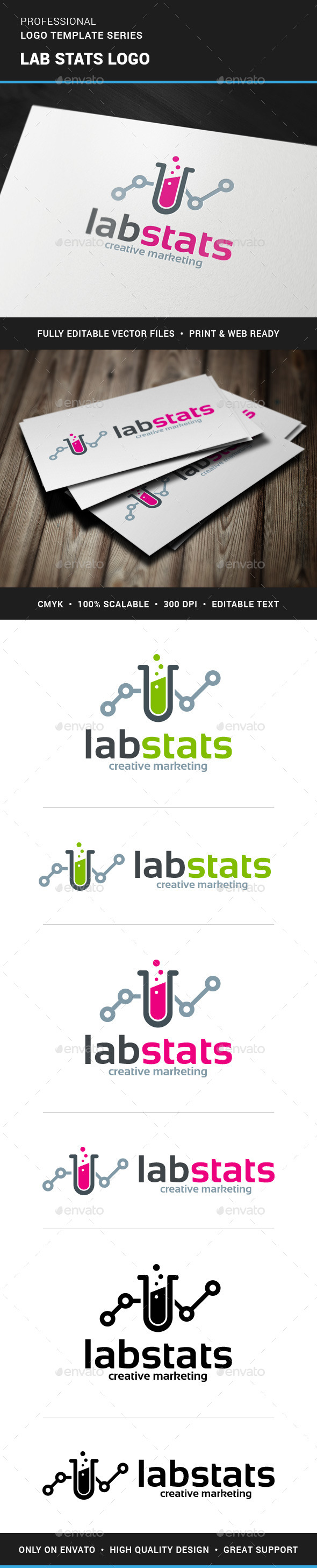 GraphicRiver Lab Stats Logo Template 11799950