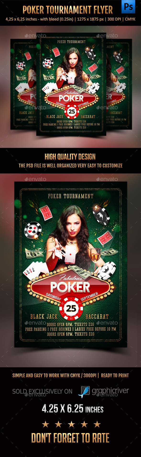 GraphicRiver Poker Tournament Flyer 11800015