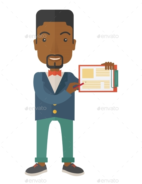 GraphicRiver Guy Holding Clipboard 11800116