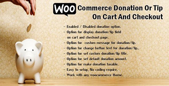 CodeCanyon WooCommerce Donation Or Tip On Cart And Checkout 11758809