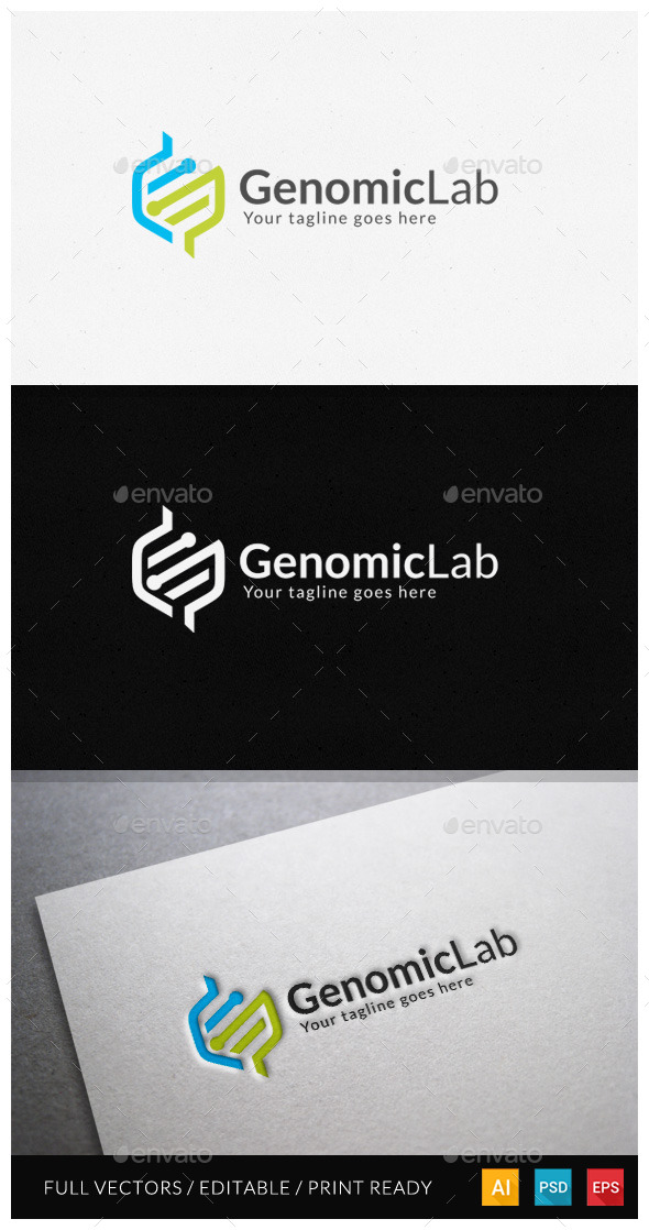 GraphicRiver Genomic Logo Template 11800286