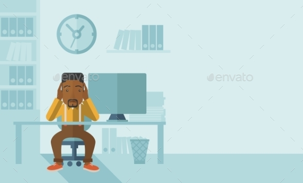 GraphicRiver Overworked Businessman is Under Stress 11800671