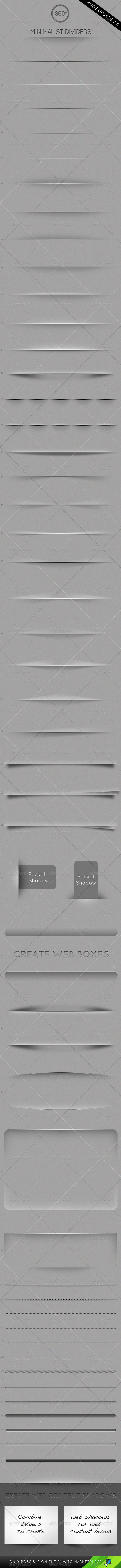 GraphicRiver Minimalist Dividers Resizable 146824