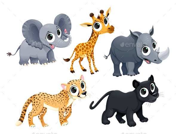GraphicRiver African Animals 11801240