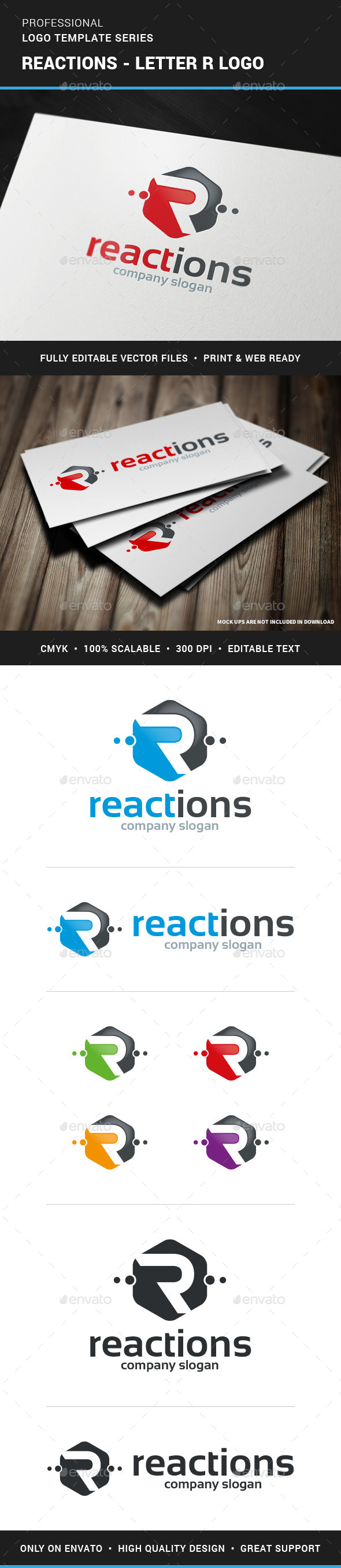 GraphicRiver Reactions Letter R Logo 11801312