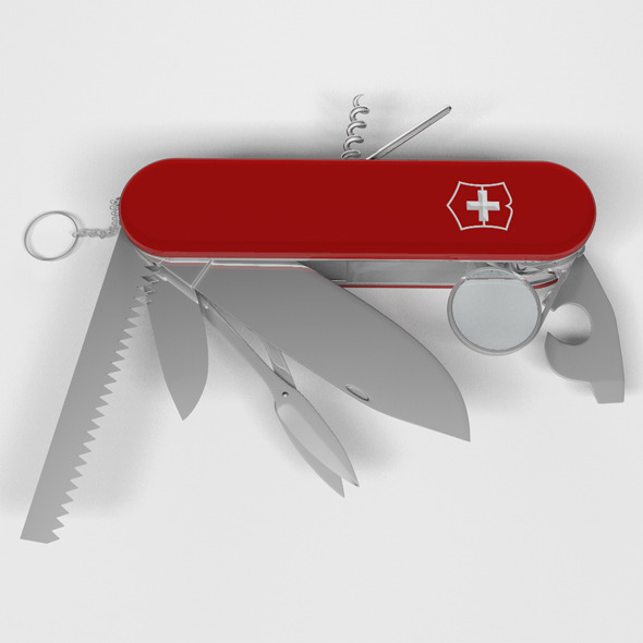 Swiss knife - 3DOcean Item for Sale