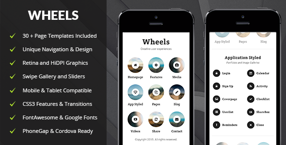 ThemeForest Wheels Mobile & Tablet Responsive Template 11801756