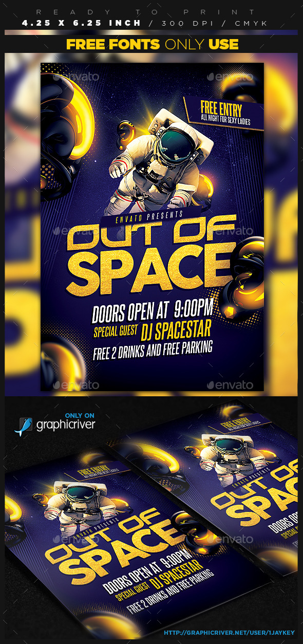 GraphicRiver Out of Space Party Flyer 11801783