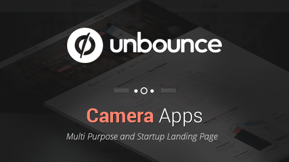 ThemeForest Camera Apps Unbounce Landing Page 11730281